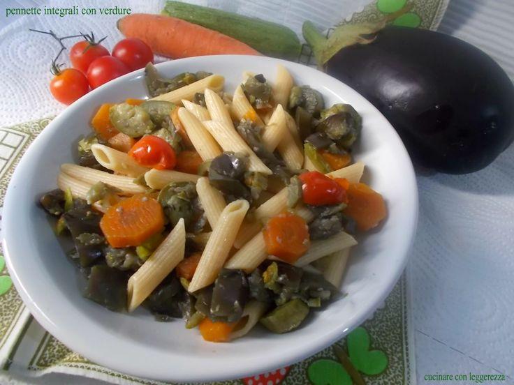 Pennette integrali con verdure