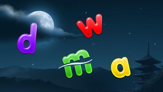 ABC Ninja. Appen er gratis nu. Man slicer alfabetet, når man hører hvilket bogstav der bliver sagt. Jo bedre cut og hurtigere jo bedre.