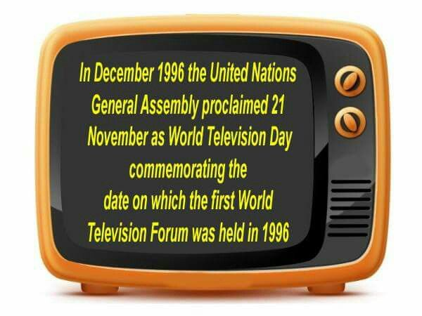 November 21: World Television Day  Television: a cornerstone of democracy and a pillar of freedom of expression and cultural diversity. It nurtures education, continually invites people to explore beyond their living rooms and arouses curiosity.   #WorldTelevisionDay #InternationalTelevisionDay #TVDay #WorldTVDay #GlobalTelevisionDay #UniversalTelevisionDay #TelevisionDay #Television #Telecommunication #Transmitting #broadcasting #SDTV #HDTV #CRTTV #LCDTV #LEDTV #OLEDTV #Plasma #SmartTV