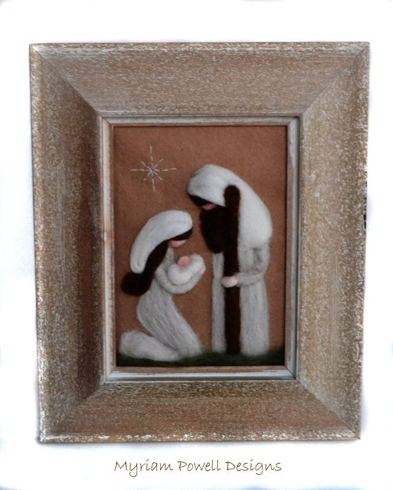 Felted Nativity  Waldorf Nativity  Nativity by MyriamPowellDesigns
