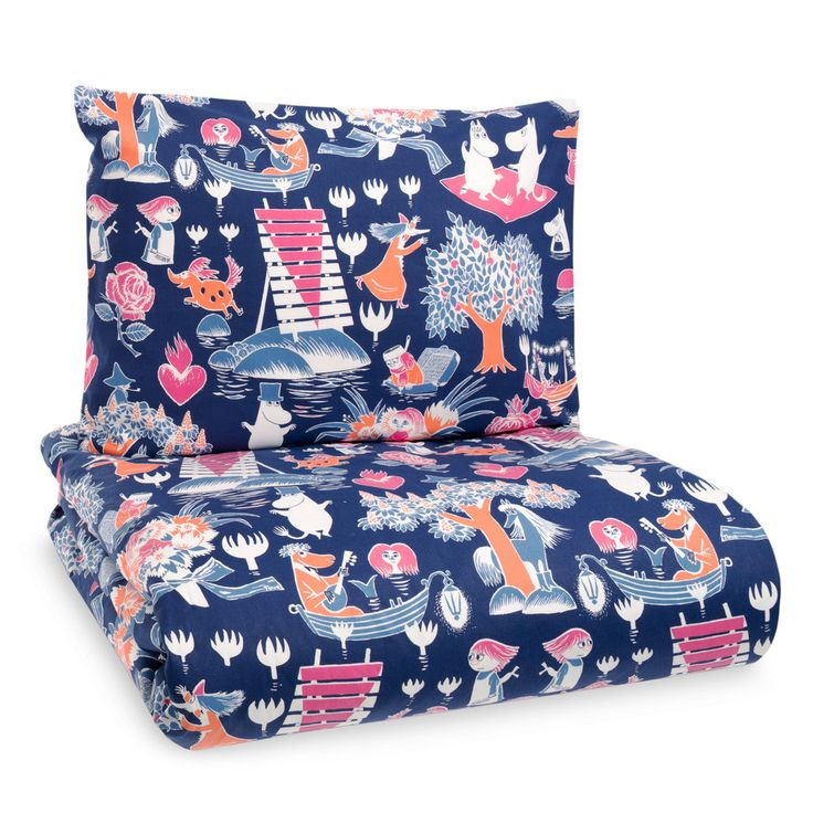 A new and beautiful duvet cover set for adults. High quality fabric from Finlayson, with a pattern that will bring a smile to your face.