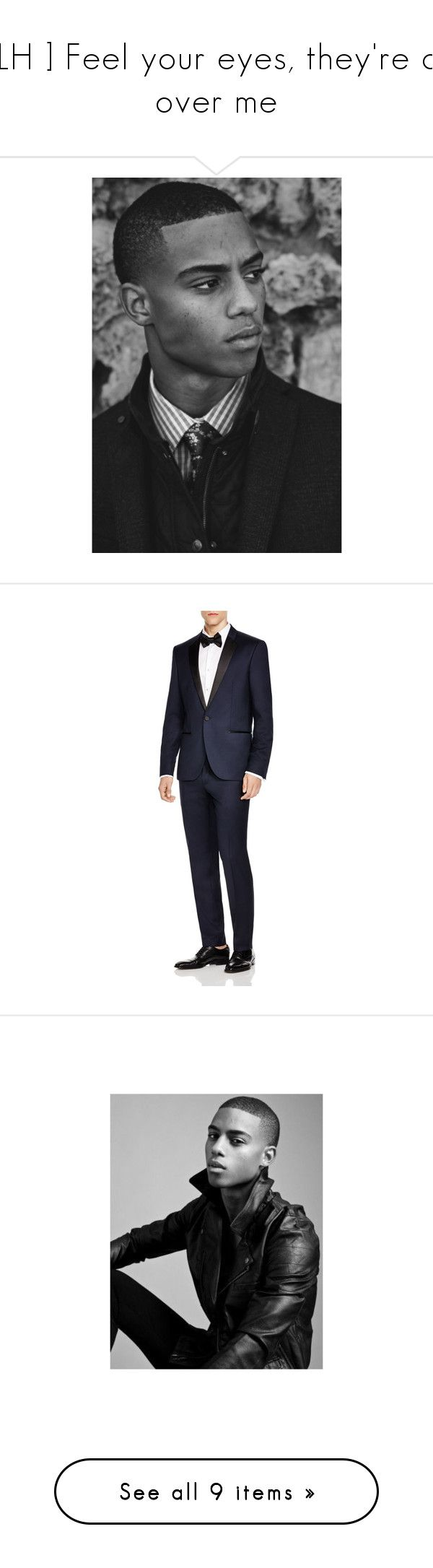 """[ LH ] Feel your eyes, they're all over me"" by zamolodchikova ❤ liked on Polyvore featuring men's fashion, men's clothing, men, navy, mens dinner suits, old navy mens clothing, mens navy tuxedo, mens tuxedo suit, keith powers and shoes"