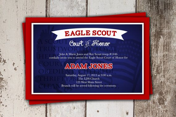 Eagle scout court of honor invitations party invitations for Eagle scout powerpoint template