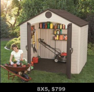 Storage Sheds, Poly Sheds, Resin Sheds, FREE shipping, No sales tax, No interest financing, ADD to Amazon cart for DEALS, Home Decor, Sheds for sale near me