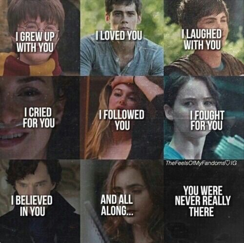 Harry potter, The Maze Runner, Percy Jackson, The fault in our Stars, The Hunger Games, Sherlock, The Mortal Instruments.
