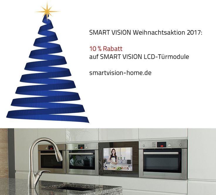Unsere Weihnachtsaktion 2017 Wir gewähren 10% Rabatt auf alle neuen Bestellungen eines SMART VISION LCD-Türmodules. Die Aktion gilt nur bis zum 30. September 2017.  Mehr unter: http://smartvision-home.de/weihnachtsaktion-2017/