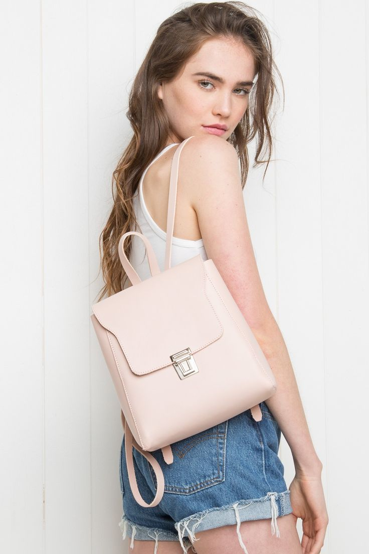 Brandy ♥ Melville | Pink Buckle Backpack - Bags - Accessories