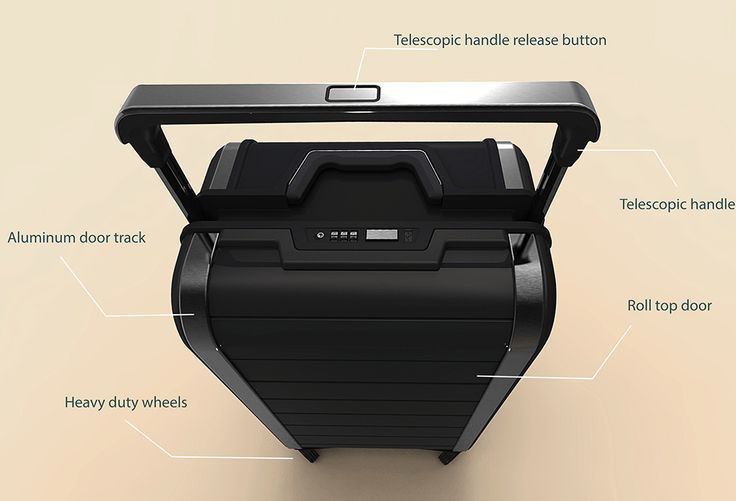 Designed for the experienced trailer, Trunkster is innovative and durable luggage that features a unique zipper-less, flap-less design. Similar to a garage door, the