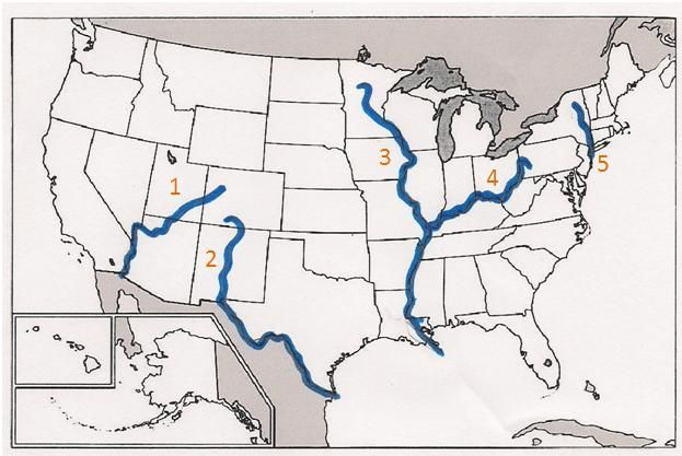 United States Labeled Map Free Drawing Tutorial And Manual Online - Map of united states with rivers labeled