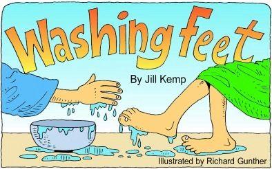 Jesus washes the disciples' feet. John 13:1-17 Day 3