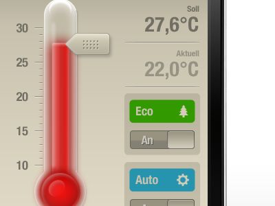 iphone thermometer ui web design element