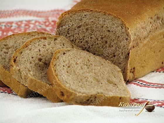Гречневый хлеб с грецкими орехами