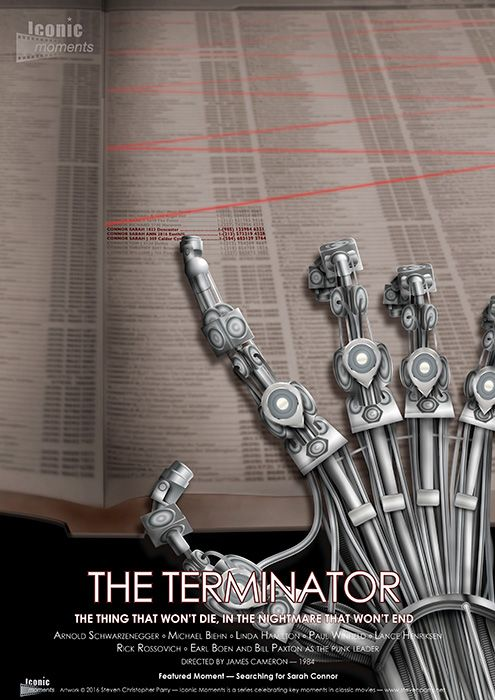 Iconic Moments The Terminator Movie Poster - Created by Steven Parry…more Iconic Moments posters at www.stevenparry.net/im.html