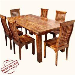 idaho modern rustic solid wood dining table  u0026 chair set best 25  solid wood dining table ideas on pinterest   solid wood      rh   pinterest com