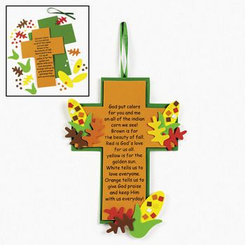 indian corn legend cross craft for kids - Religious Halloween Crafts