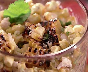 Corn and Scallion Salad with Cilantro-Mint Dressing Recipe : Bobby Flay : Food Network