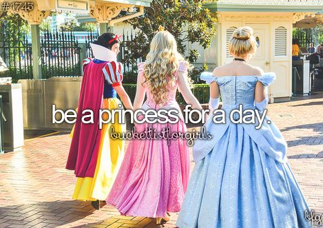 I would love to get a few friends together, get all dressed up like princesses and visit a children's hospital!
