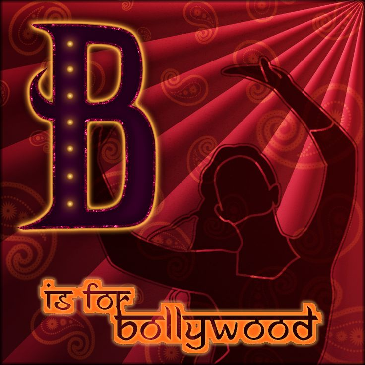 """b is for bollywood"" - a tribute to the bombay movie industry, in mixed gimp techniques."
