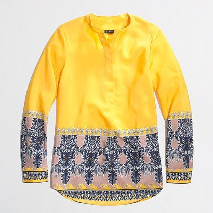 J.Crew Factory - Factory printed draped popover