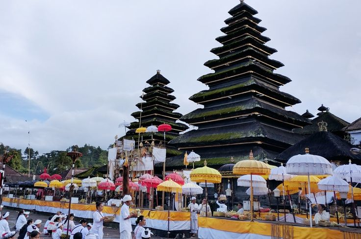 Prayers at Besakih Temple.  Bali