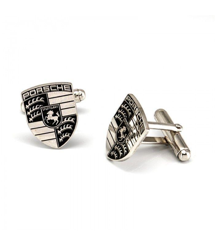 Gemelos de plata 925ml con escudo de Porsche - Subastas Regent's   Joyas y Antigüedades