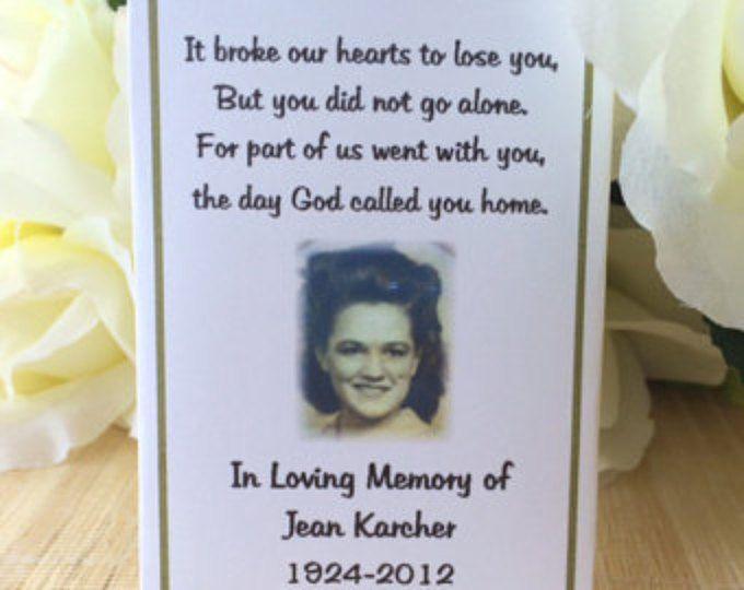 memorial gift, memorial keepsake, memorial favors, Memorial Cards, Memorial Seed Packets, memorial for mom, memorial for dad, funeral gift