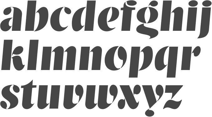 Modern stencil fonts