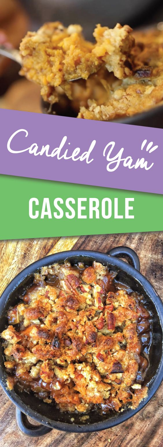 Candied Yam Casserole | Traditional candied yam flavors taken up like 10 notches with a bubbly, crunchy brown sugar crumble. So delicious and easy and perfect for thanksgiving | meikoandthedish.com