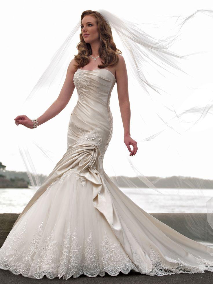 27 besten Lace Wedding Dress Bilder auf Pinterest   Brautkleider ...