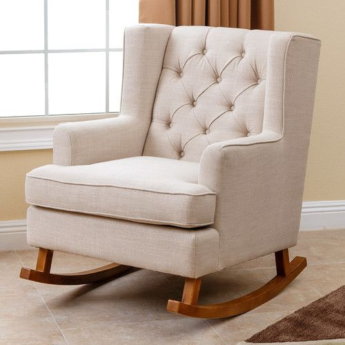 "Features:  -Materials: Linen fabric, wood.  -Removable legs: Yes.  -Color: Beige .  Color: -Beige.  Frame Material: -Wood. Dimensions:  -Backrest dimensions: 22.5"" H.  Overall Height - Top to Bottom:"