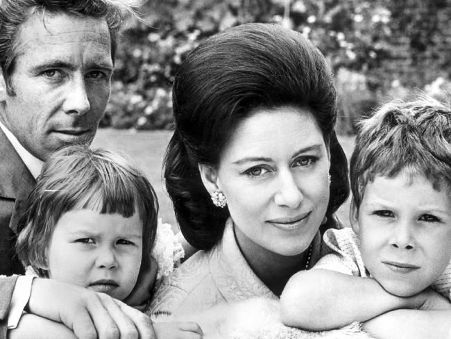 Lord Snowdon with Princess Margaret and their two children David and Sarah