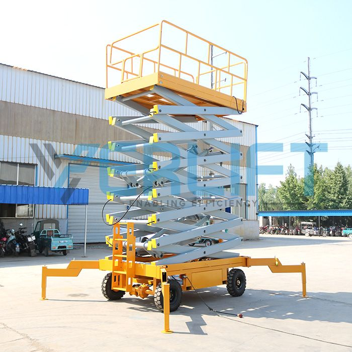 VER Machinery 14m #hydraulicmanlift delivered for Pakistan hotel wall cleaning work. Get desired height and load capacity man lift solution today.