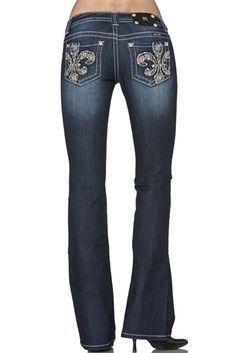 Sexy Harley Davidson Women's Clothing | Harley-Davidson Women's Miss Me Fleur de Lis Boot Cut Jeans
