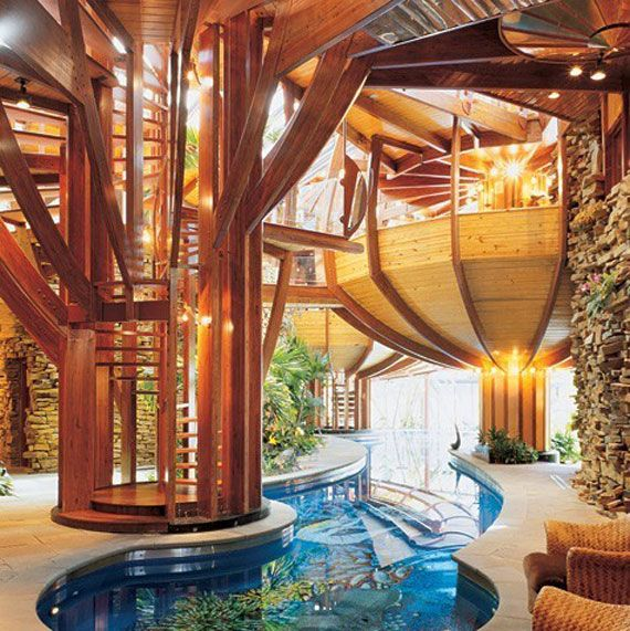 Pool design is great, looks like you can swim among a coral reef!