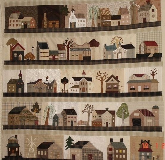 Houses quilt by reddsmillmrs