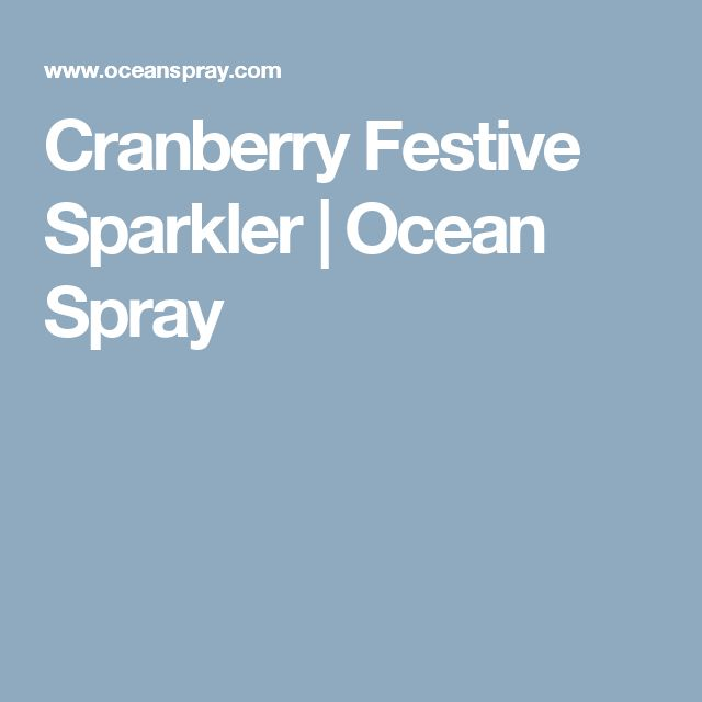 Cranberry Festive Sparkler | Ocean Spray