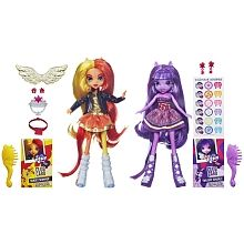 MY LITTLE PONY - Equestria Girls - Dolls Two-Pack - TWILIGHT SPARKLE & SUNSET SHIMMER