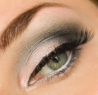 pink & gray: Make Up, Color Combos, Weddings Makeup, Smokey Eyes, Eyes Shadows, Hazel Eyes, Green Eyes, Eyeshadows, Eyes Makeup