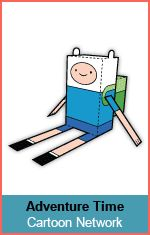 Cartoon Network Adventure Time Paper Foldables paper toys