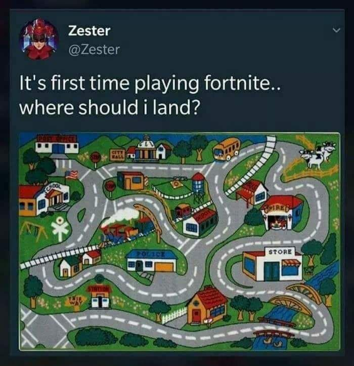 First Time Playing Fortnite Where Should I Land? #funny