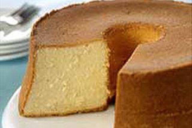 Bizcocho de mantequilla con crema de coco Receta