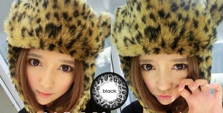 Sexy Leopard Style Cosmetic Contact Lenses for Sale Black