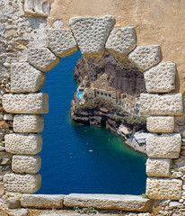 Traditional architecture of Oia village in Santorini island, Gre