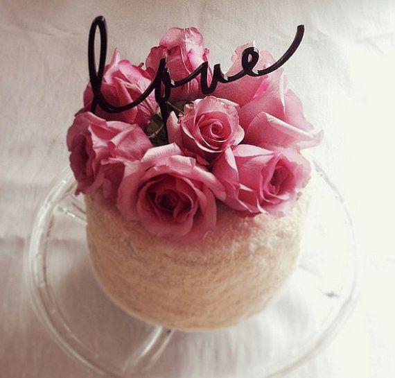 Love, Customise wedding cake topper,handwritten cake topper,personalised cake topper,monogram cake topper,write your own cake topper