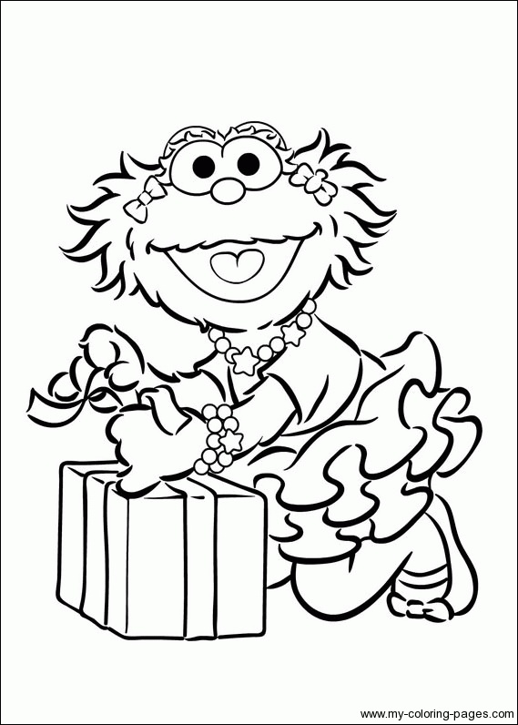zoe sesame street coloring pages - photo#30
