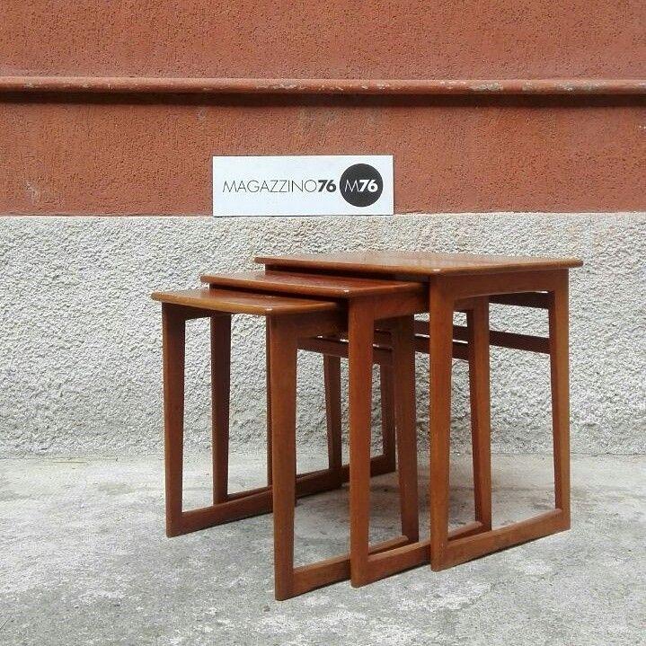 Tris di tavolino in teak  Inglesi prodotti da Gplan Misura massima 50x45x50h 1960 #magazzino76 #viapadova #Milano #nolo #viapadova76 #M76 #modernariato #vintage  #furnituredesign #furniture #mobili #anni60 #comodini #gplan #modernfurniture #tavolini #coffeetable #antiquariatoviapadova #vintageviapadova #nolovintage #antiquariatonolo  #modernariatoviapadova #modernariatonolo #nolodesign #designnolo #designviapadova   #perfettamenteconservato #solocoseoriginali #compromodernariato…