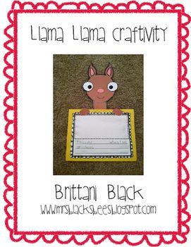 Llama Llama Craftivity