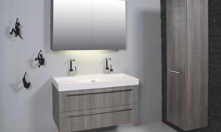 ink 50 X-RAY met grepen grepen - 50 - xray - polystone - badkamer - wastafel - ink - spiegelkast - badjas - sanibell - badmeubel - badkamermeubel