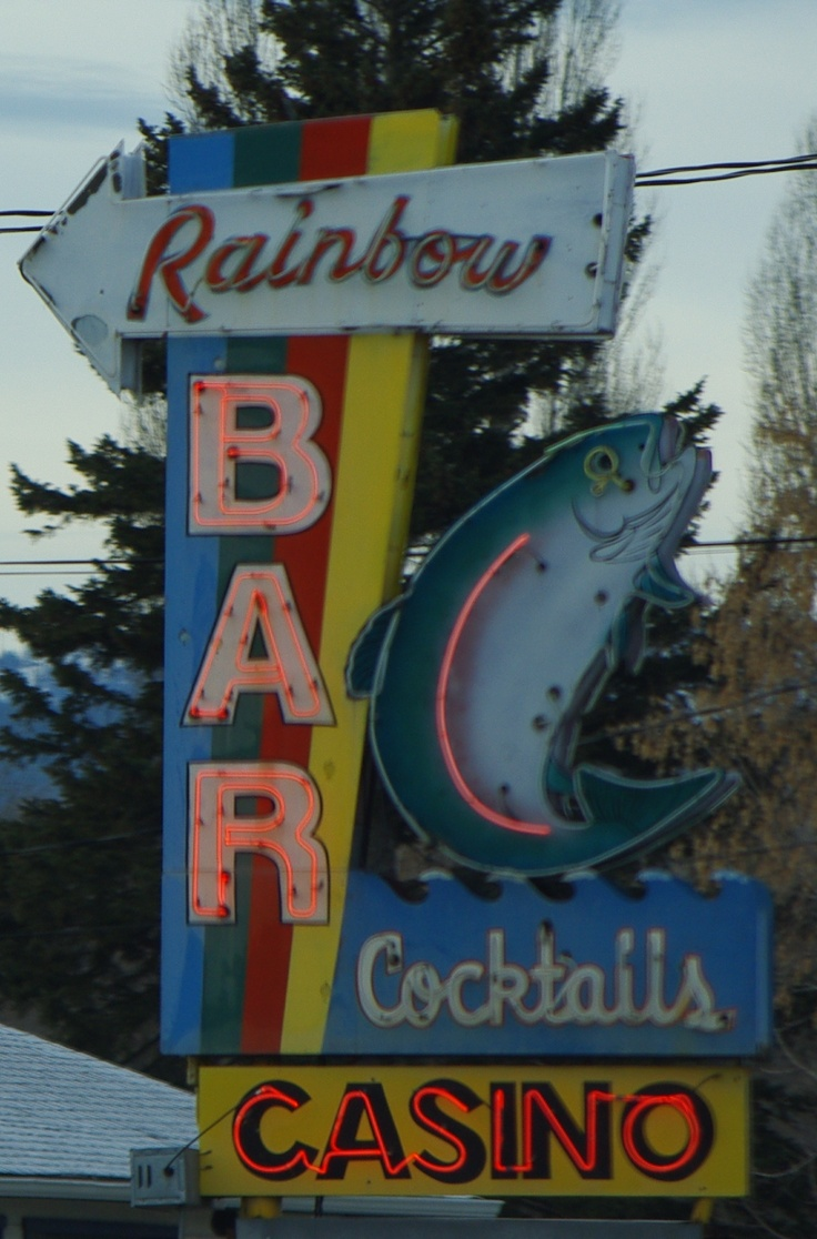 Rainbow Bar in Kalispell Montana. Photo taken by Robin Ritter