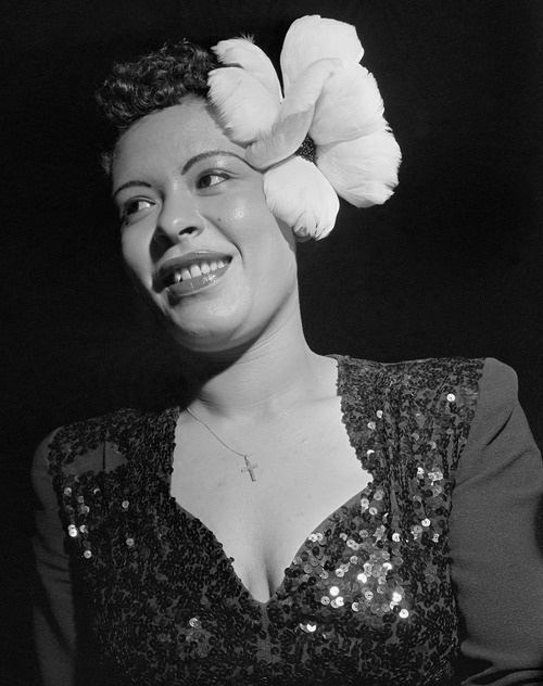 Billie Holiday: Music, Birthday, Billy Holidays, 1940S Photos, Billie Holiday, 1950 S Hairstyles, Holidays Ripped, Icons Flowers, Jazz Artists